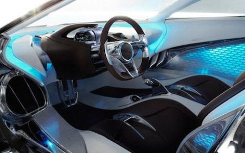 3d printed Jaguar C-X75 interior